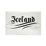 Iceland Gothic Rectangle Magnet (100 pack)