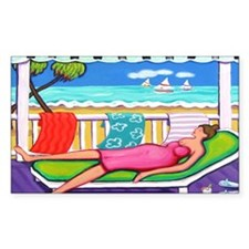 Seaside Siesta - Beach Bumper Stickers