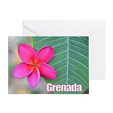 Grenada Flower Large Greeting Card