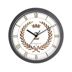 Napoleon gold number 2 Wall Clock