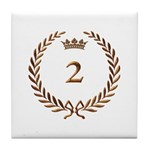 Napoleon gold number 2 Tile Coaster