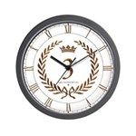 Napoleon gold number 3 Wall Clock