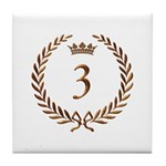 Napoleon gold number 3 Tile Coaster