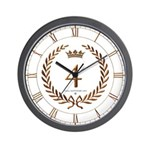 Napoleon gold number 4 Wall Clock