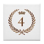 Napoleon gold number 4 Tile Coaster
