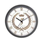Napoleon gold number 5 Wall Clock