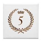 Napoleon gold number 5 Tile Coaster