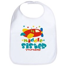 Middle Sister Plane - Personalized Bib