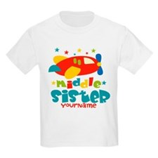 Middle Sister Plane - Personalized T-Shirt