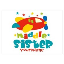 Middle Sister Plane - Personalized 5x7 Flat Cards