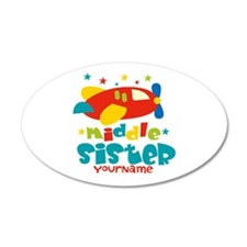 Middle Sister Plane - Personalized Wall Decal