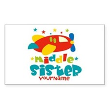 Middle Sister Plane - Personalized Decal