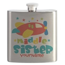 Middle Sister Plane - Personalized Flask