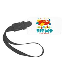 Middle Sister Plane - Personalized Luggage Tag