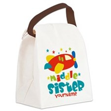 Middle Sister Plane - Personalized Canvas Lunch Ba