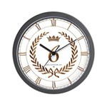 Napoleon gold number 6 Wall Clock