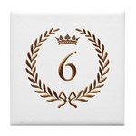 Napoleon gold number 6 Tile Coaster