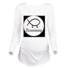 darwinningbutton Long Sleeve Maternity T-Shirt