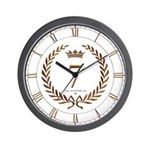 Napoleon gold number 7 Wall Clock