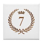 Napoleon gold number 7 Tile Coaster