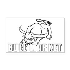monochrome Bull Market ICON Rectangle Car Magnet