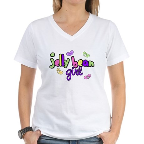 Jelly Bean Girl Women's V-Neck T-Shirt