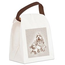 goldendoodle family dogs Canvas Lunch Bag