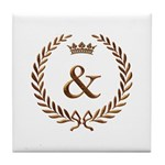 Napoleon gold & (ampersand) Tile Coaster