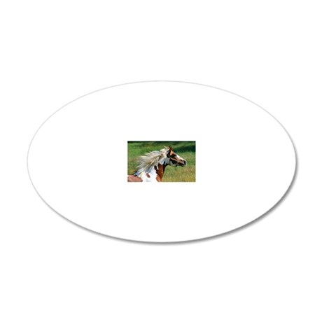 My Paint Horse Profile 20x12 Oval Wall Decal
