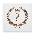 Napoleon gold ? (question mark) Tile Coaster