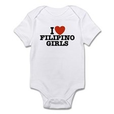I Love Filipino Girls Infant Bodysuit