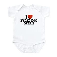 I Love Filipino Girls Onesie