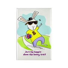 Hip Hop Easter Bunny Rectangle Magnet