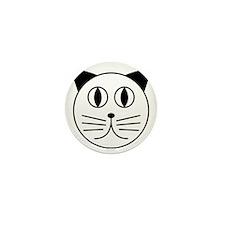 Cute Kitty Cat Face Mini Button