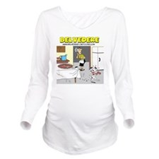 Belvederes Pizza Bon Long Sleeve Maternity T-Shirt