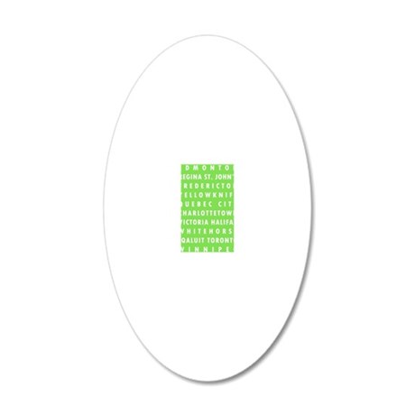 Celery CA Cities 20x12 Oval Wall Decal