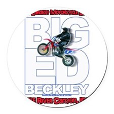 Big Ed Beckley, Worlds Largest Mo Round Car Magnet