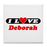 I Love Deborah Tile Coaster