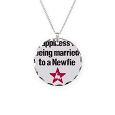 Happiness is being married t Necklace Circle Charm