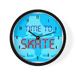 Ice Skating Wall Clock