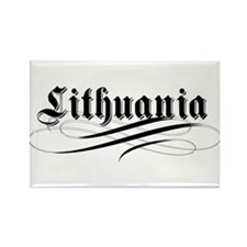 Lithuania Gothic Rectangle Magnet (10 pack)