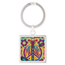 Tribute To Woodstock Square Keychain