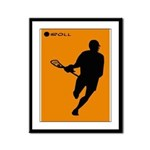 Lacrosse I Roll Framed Panel Print