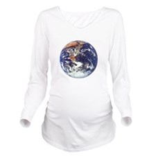 earth122013darkT Long Sleeve Maternity T-Shirt