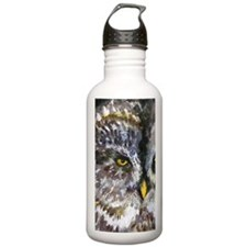 Yellow Owl Eyes Water Bottle