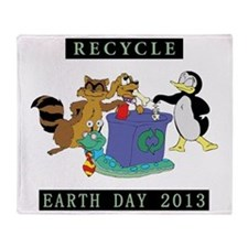 earth382013lightW Throw Blanket