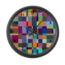 Patches Large Wall Clock