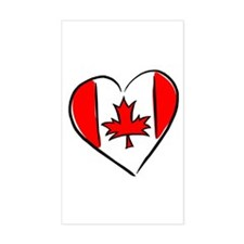 I Love Canada Rectangle Decal