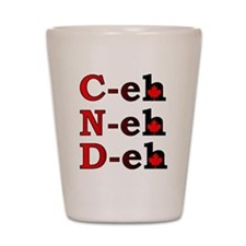 Canada Eh! Funny Canadian T-Shirt Shot Glass