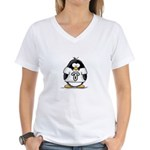Aries Penguin Women's V-Neck T-Shirt